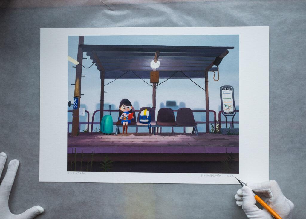 Runaway Rain - Limited edition art print signed